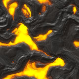 Magma. Piece of liquid and hot magma - seamless tile Royalty Free Stock Photo