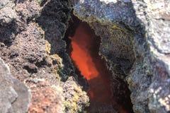 Magma av Eyjafjallajokull Arkivfoto