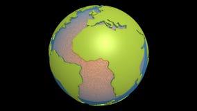 magma d'océan atlantique de dérive des continents illustration stock