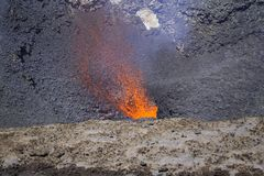 Magma d'un rouge ardent image stock