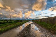 Magma dans des couleurs de coucher du soleil Photo libre de droits