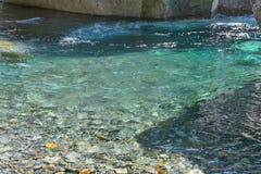 Magma de l'eau sur la rivière Photographie stock