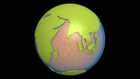 magma de Pacifique de dérive des continents illustration stock