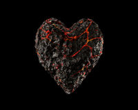 Magma Heart Stock Photo