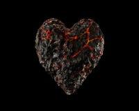 Magma-Herz Stockfoto