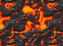 Magma ou lave fondue Photographie stock libre de droits