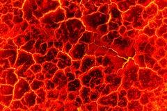 Magmaachtergrond, de rode barstsamenvatting voor achtergrond Stock Afbeelding
