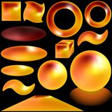 Magmatische Knopen stock illustratie