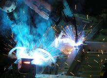 Magnétique de Soldadura | Soudure de MIG photo stock