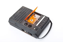 Magnétophone à cassettes magnétique de bande sonore photo stock