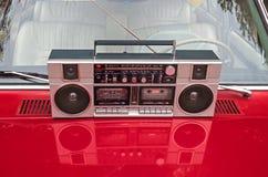 Magnétophone à cassettes par radio Image libre de droits