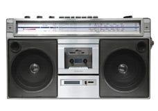 Magnétophone à cassettes par radio de cru Photo stock
