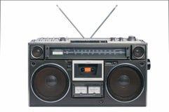 Magnétophone à cassettes par radio de cru illustration stock