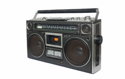 Magnétophone à cassettes par radio de cru Image stock