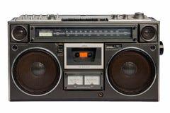 Magnétophone à cassettes par radio de cru Photographie stock libre de droits