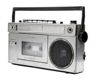 Magnétophone à cassettes par radio de vintage Images stock