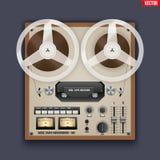 Magnétophone analogue de bobine de vintage Image stock