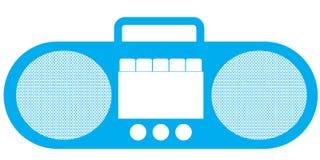 Magnétophone - rétro Images libres de droits
