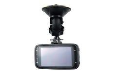 Magnétoscope d'appareil-photo de voiture d'isolement sur le fond blanc Images libres de droits