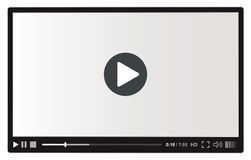 Magnétoscope pour le Web Images stock