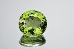 Magnífico de moldavite de las gemas Foto de archivo libre de regalías