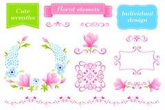 Magnólia floral ilustração stock