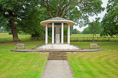 Magna Carta. A view of the Magna Carta memorial in Runnymede, Surrey. Thought to be the site where King John was forced to sign the original document in 1215AD stock photos