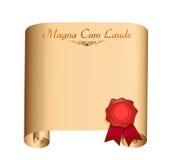 Magna Laude College graduation Diploma Royalty Free Stock Photo