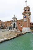 Magna de Porta, arsenal veneciano (Venecia, Italia) imagen de archivo