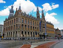 Magna Plaza in Amsterdam Netherlands stock photo