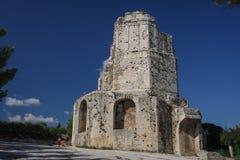Magne Tower, Nimes, Frankreich Stockbilder