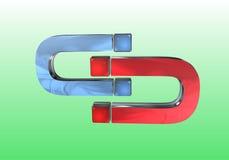 Magneet aan magneet Stock Afbeelding