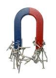 Magneet en Spijkers Stock Foto