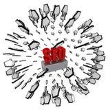 Magneet SEO Royalty-vrije Stock Afbeeldingen