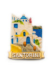 Magneetornament van Santorini Stock Foto's
