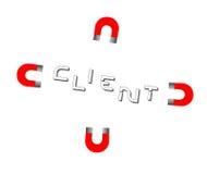 Magnes przyciąga nowych biznesowych klientów i klientów Fotografia Stock