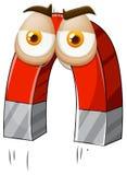 Magnes z facical wyrażeniem royalty ilustracja