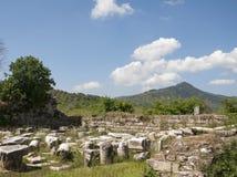 Magnesiaannons Meandrum, Aydin landskap, Turkiet Arkivbilder