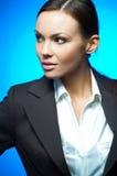 Magnesio atractivo de la mujer de negocios Imagen de archivo libre de regalías
