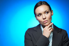 Magnesio atractivo de la mujer de negocios Foto de archivo libre de regalías