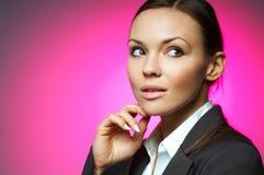Magnesio atractivo de la mujer de negocios Imagen de archivo