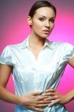 Magnesio atractivo de la mujer de negocios Fotos de archivo libres de regalías