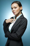 Magnesio sexy della donna di affari. Fotografie Stock Libere da Diritti
