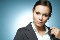 Magnesio sexy della donna di affari. Fotografia Stock