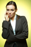 Magnesio sexy della donna di affari Fotografie Stock