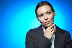 Magnesio sexy della donna di affari Fotografia Stock Libera da Diritti