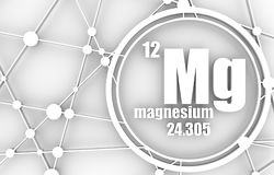 Magnesium chemical element. Royalty Free Stock Photos