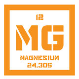 Magnesium chemical element Royalty Free Stock Image