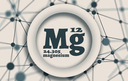 Magnesium chemical element. Royalty Free Stock Photography