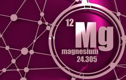Magnesium chemical element. Stock Photography